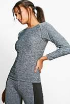 boohoo Emma Fit Longsleeve Runners Tee grey
