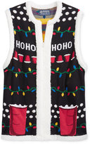 American Rag Men's Holiday Sweater Vest with Sherpa Trim, Only at Macy's