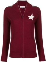 Bella Freud star knitted zip up jacket