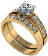 Moissanite Premier Collection 9ct Gold 1.20ct Total Eq Round Brilliant Centre Bridal Set