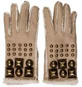 Burberry Leather Stud-Embellished Gloves