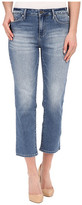 Calvin Klein Jeans Cropped Straight Jeans in Authentic Blue