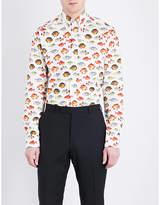 Eton Fish-print slim-fit cotton shirt