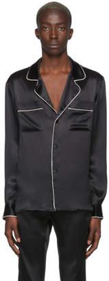 Casablanca Black Silk De Soiree Pyjama Shirt