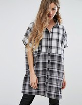 Noisy May Missy Oversized Check Shirt