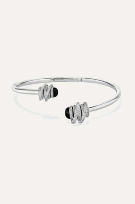 de Grisogono Toi & Moi 18-karat White Gold, Diamond And Onyx Cuff