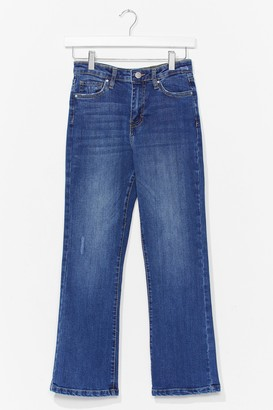 Nasty Gal Womens When in Doubt Cropped Flare Jeans - Blue - 8