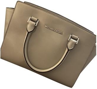 Michael Kors Grey Leather Handbags