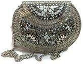 Generic Indian Vintage style Handmade stylish Ethnic Metal Clutch cum Sling Bag