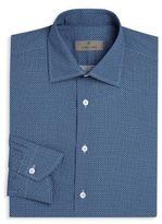 Canali Geometric Regular-Fit Printed Shirt