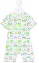 Stella McCartney Fluro Beach romper - kids - Cotton - 3 mth