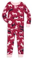 Hatley Toddler's & Little Girl'sHorse Printed Tee & Jogger Pants Set