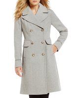 Vince Camuto Double Breasted Long Military Wool Coat