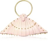 Una Burke Pink Leather Shell Bag w/Studs