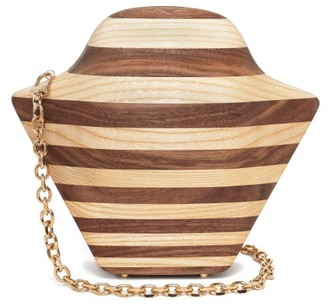 Sabry Marouf - The Tutankhamun Wood Cross-body Bag - Brown Multi
