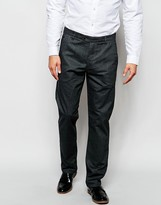 Ted Baker Brushed Cotton Smart Trousers In Slim Fit - Grey
