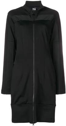 Y-3 long zipped track jacket