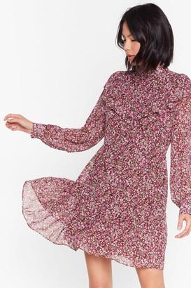 Nasty Gal Womens Smock Dress in Grunge Floral - Brown - 4