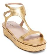 Valentino Metallic Leather Platform Sandals