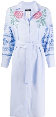 Max Mara Floral Embroidered Shirt Dress