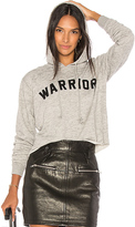 Spiritual Gangster Warrior Arch Crop Hoodie in Gray. - size L (also in M,S,XS)
