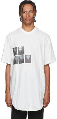 Julius White Graphic Drop-Tail T-Shirt
