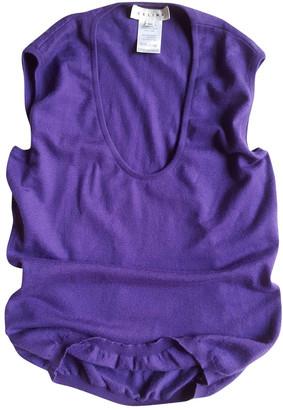 Celine Purple Cashmere Tops