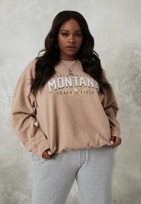 Missguided Plus Size Tan Montana Sweatshirt