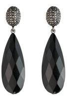 Lauren Ralph Lauren Pav & Faceted Teardrop Earrings