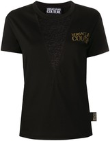 Versace sheer panel T-shirt