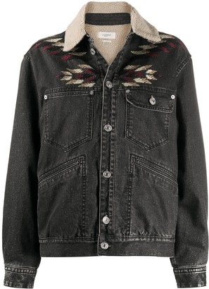 Etoile Isabel Marant Embroidered Trucker Jacket