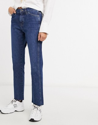MiH Jeans Cult mid rise straight leg jeans in blue
