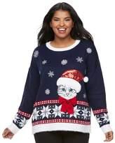 It's Our Time Juniors' Plus Size Fairisle Sweater