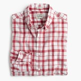 J.Crew Secret Wash shirt in heather poplin red-and-white plaid