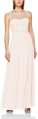 Little Mistress Grace Embellished Neck Maxi Dress