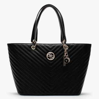 GUESS Kamryn Quilted Black Tote Bag