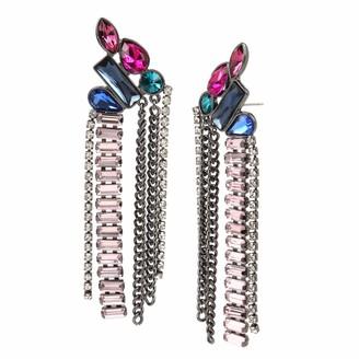 BCBGeneration BCBG Generation Women's Stone Cluster Chandelier Earrings