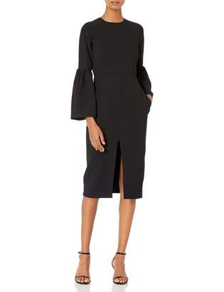 Jill Stuart Women's Cocktail Dress with Front Slit and Bell Sleeves