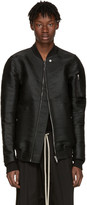 Rick Owens Ssense Exclusive Black Horsehair Flight Jacket