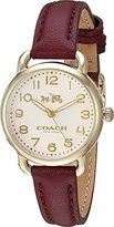Coach Women's Delancey 28mm with Soft Port Leather Gold Plated Watch
