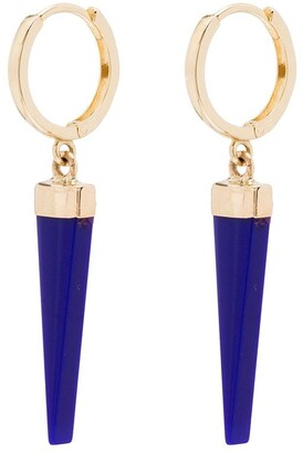 Loren Stewart 14kt Yellow Gold Blue Lapis Earrings