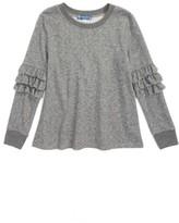 Truly Me Girl's Ruffle Sleeve Sweatshirt