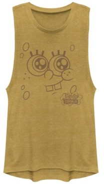 Fifth Sun SpongeBob Squarepants Bob Esponja Face Festival Muscle Tank Top