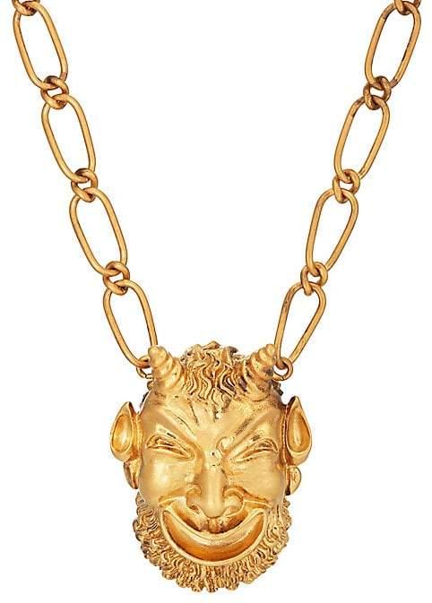 Gucci Men's Mask Of Silenus Pendant Necklace