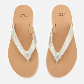 UGG Women's Tawney Metallic Flip Flops