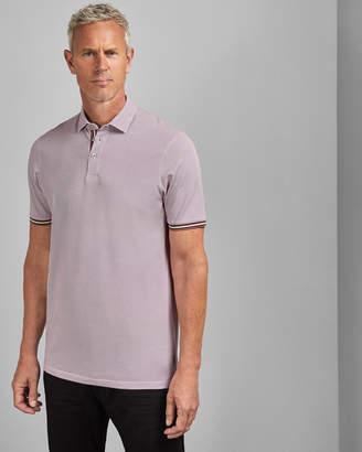 Ted Baker ISLANTT Tall textured cotton polo shirt