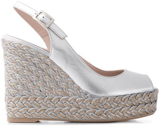 Paul Warmer Woven Wedge Sandals