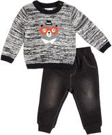 Petit Lem Black Bear Sweater & Sweatpants - Infant