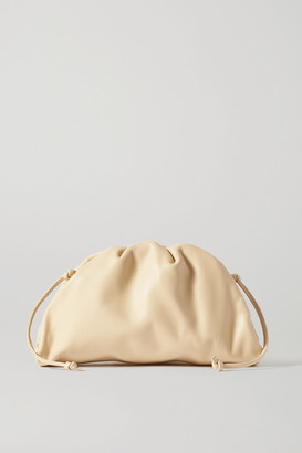 Bottega Veneta The Pouch Small Gathered Leather Clutch - Beige