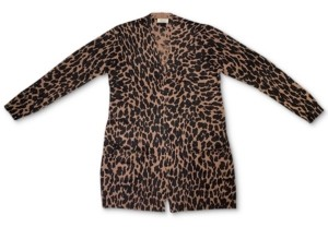 Style&Co. Style & Co Animal-Print Open-Front Cardigan, Created for Macy's